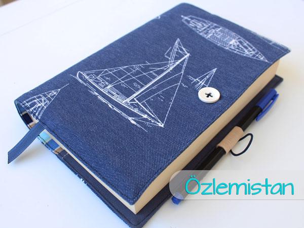 Yelkenli kitap kılıfı