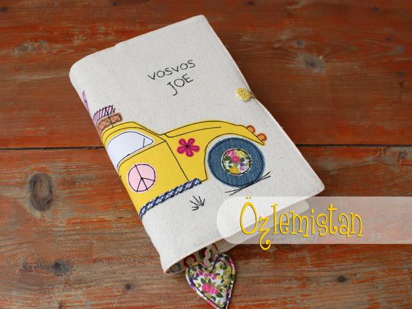 Sarı vosvoslu kitap kılıfı