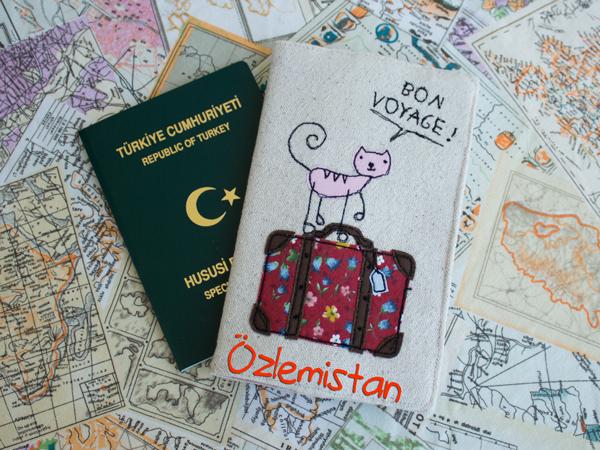 Pasaport Kılıfı Seyahat Bon Voyage